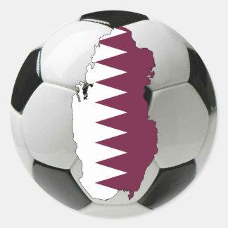 Qatar football soccer round stickers