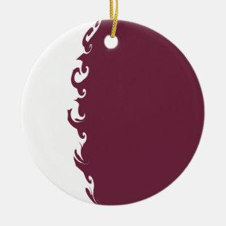 Qatar Gnarly Flag Ceramic Ornament