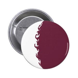 Qatar Gnarly Flag Pinback Button