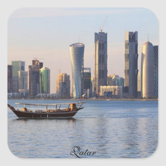 Qatar High Rise Buildings & Offices-Square Sticker