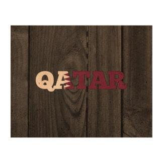 Qatar Impresión En Corcho