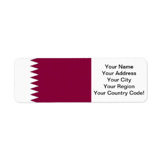Qatar Return Address Label