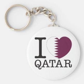Qatar Love v2 Basic Round Button Keychain