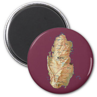 Qatar Map Magnet