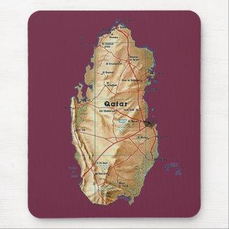 Qatar Map Mousepad