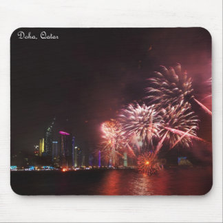 Qatar National Day fireworks Mousepad