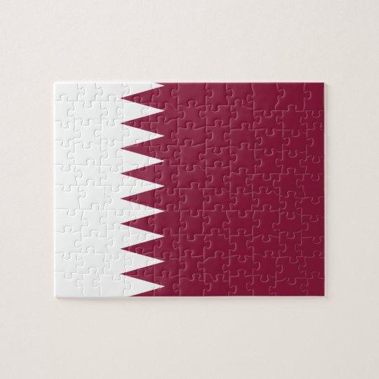 Qatar National World Flag Jigsaw Puzzle   Zazzle.com