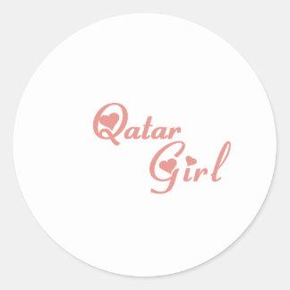 Qatar Pegatina Redonda