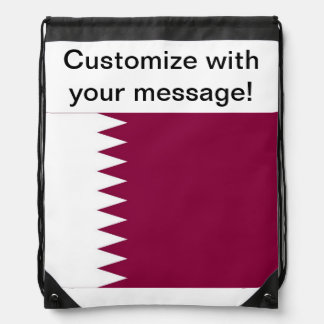Qatar Drawstring Backpacks