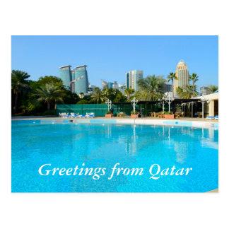 Qatar travel postcard