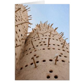 Qatari pigeon house card