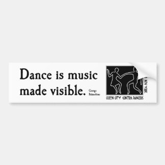 QCCD bumper sticker Music made visible Car Bumper Sticker