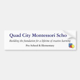 QCMS School Bumper Sticker Car Bumper Sticker