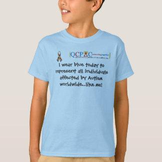 QCPAC logo World Autism Awareness T-shirt
