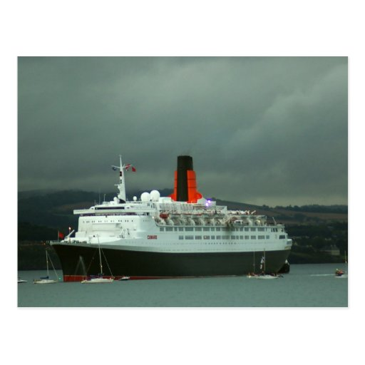 QE2 at South Queensferry Postcard