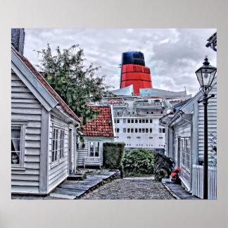 QE2 at Stavanger Poster