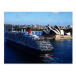 QE2 in Sydney Australia Postcard
