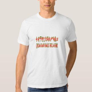 QEDAMAWI HAILE SELASSIE - Amharic T-Shirt - White