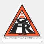 QFRRoadcone.png Calcomanía Triangulo Personalizadas