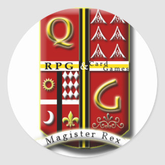 QG - RPG & CardGames Classic Round Sticker