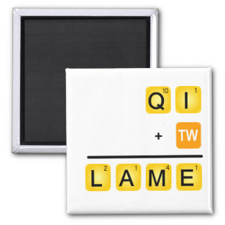 QI is LAME! 2 Inch Square Magnet