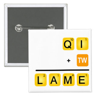 QI is LAME! Button