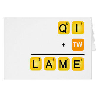 QI is LAME! Card