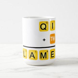 QI is LAME! Classic White Coffee Mug