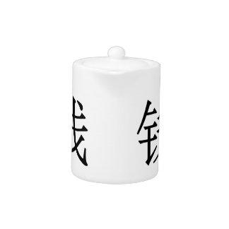 qián - 钱 (coin) teapot