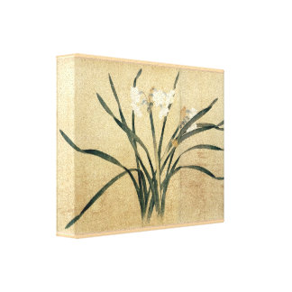 Qian Xuan Eight Flowers National Palace Museum Canvas Print