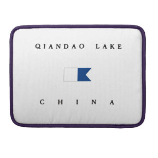 Qiandao Lake China Alpha Dive Flag Sleeve For MacBook Pro