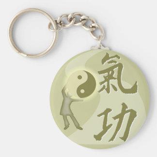 QiGong Basic Round Button Keychain