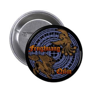 Qilin & Fenghuang Button