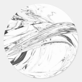 QionLab Organic Abstraction Classic Round Sticker