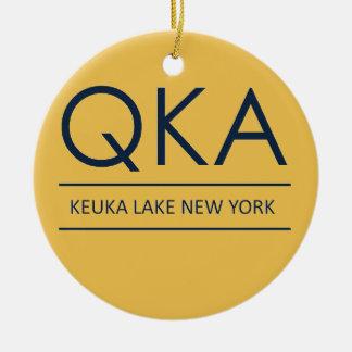 QKA Keuka Lake New York Ceramic Ornament