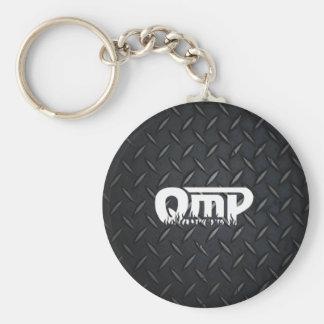 QmP Diamond Plate Logo Keychain