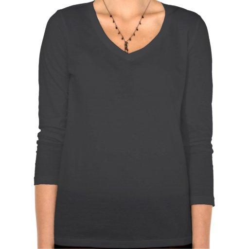 QOTR - 3/4 camiseta del cuello en v de la manga