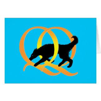 QQ Weaving Dog Greeting Card