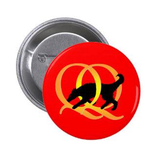 QQ Weaving Dog Pinback Button