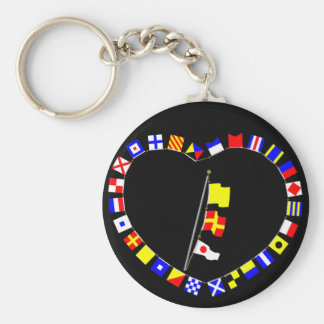 """""""QR1"""" """"Request Permission to Lay Alongside"""" Basic Round Button Keychain"""
