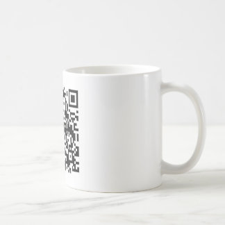 QR Barcode: Being scanned makes me happy.... Coffee Mug