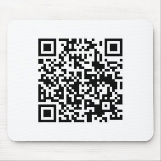 QR Barcode: Being scanned makes me happy.... Mouse Pad