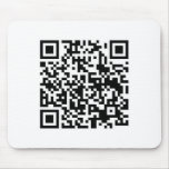 QR Barcode: Being scanned makes me happy.... Mouse Pads
