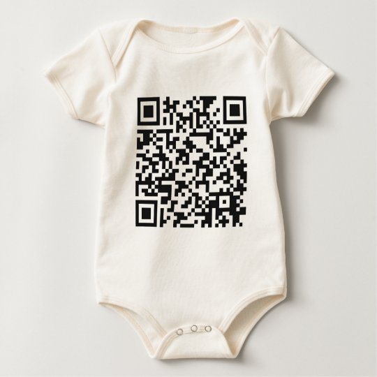 QR Barcode: Got the guts to scan me..... Baby Bodysuit