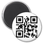 QR Barcode: Have a nice day! 2 Inch Round Magnet