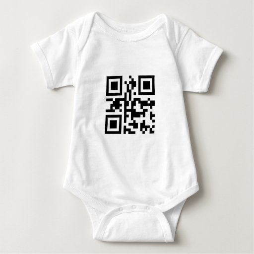 QR Barcode: Have a nice day! Baby Bodysuit