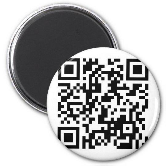 QR Barcode If this scan makes you smile, show me! Magnet