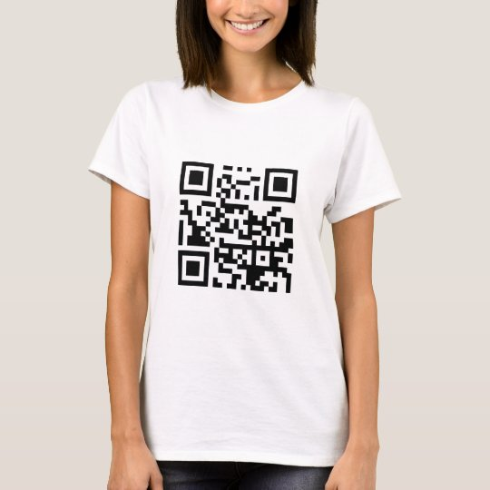 QR Barcode Make me happy with your smile! T-Shirt
