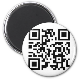 """QR Barcode """"Make someone smile today!"""" Magnet"""