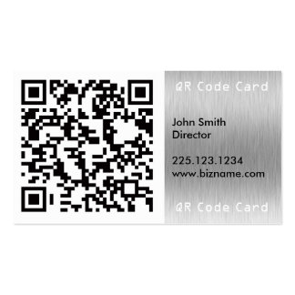 QR Barcode Scannable Square Business Card